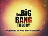 The Big Bang Theory screener.