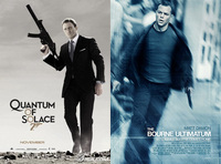 The Quantum of Solace; The Bourne Ultimatum posters