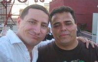 Robert Sanchez (right) poses with John Campea at Comic-Con 2007.