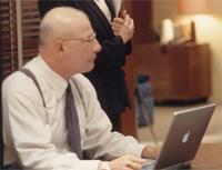 Apple laptop on Fox's 24